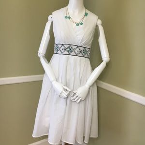 Aryeh Beaded, Cotton, Lined Dress, sz L